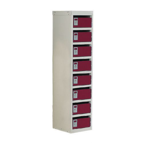 Locker Post Box Red Doors 100 Series Table Mount 8 Box