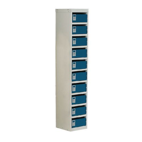 Locker Post Box Blue Doors 140 Series Floor Mount 10 Box
