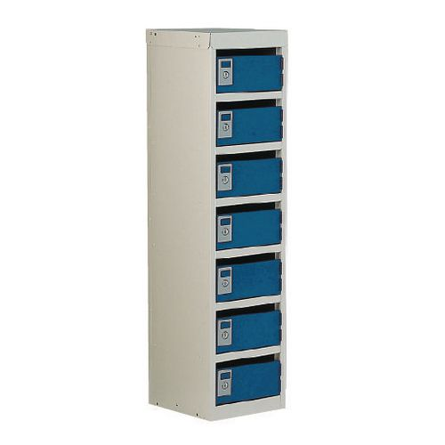 Locker Post Box Blue Doors 140 Series Table Mount 7 Box