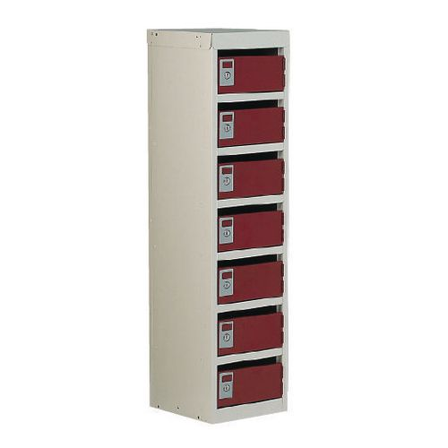 Locker Post Box Red Doors 140 Series Table Mount 7 Box