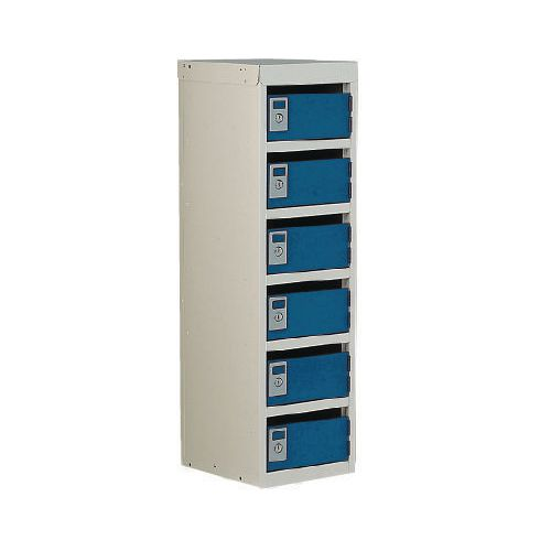 Locker Post Box Blue Doors 240 Series Floor Mount 6 Box