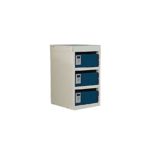 Locker Post Box Blue Doors 240 Series Table Mount 3 Box