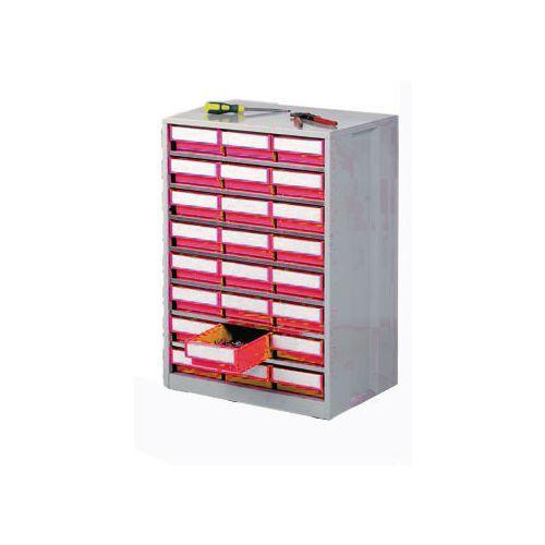 Cabinet High Density Storage 24 Bins Red