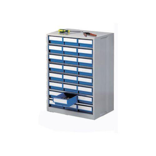 Cabinet High Density Storage 24 Bins Blue