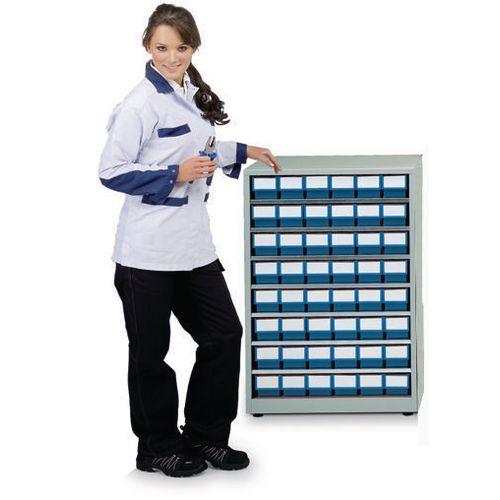 Cabinet High Density Storage 48 Bins Blue