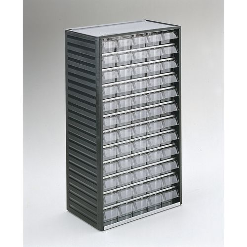 Cabinet Visible Storage Grey 60 Drawers 175x55x37 mm