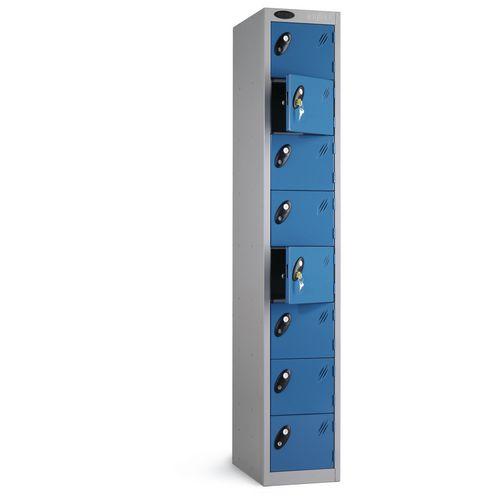 Locker 8 Door White Body Blue Door