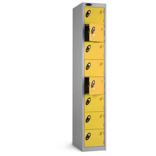 Locker 8 Door White Body Yellow Door