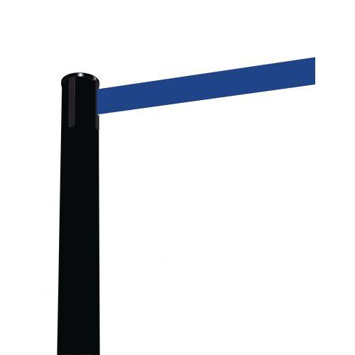 Barrier Fully Retractable Adv. Black Post &Dark Blue Belt