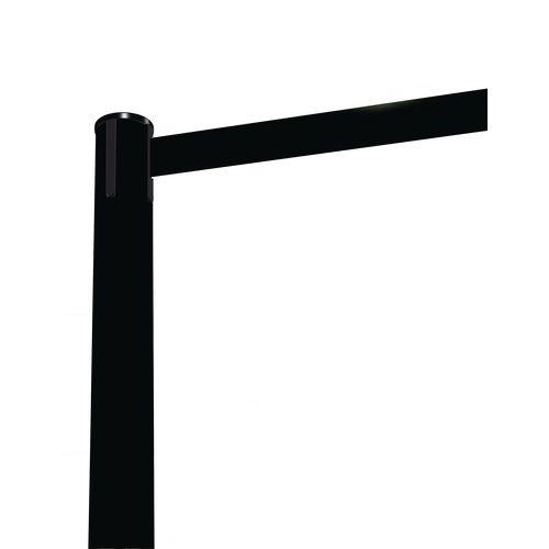 Barrier Fully Retractable Adv. Black Post &Black Belt