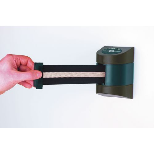 Barrier 4.6M Fully Retractable Wall Unit Black&lk/Wht Belt