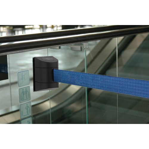 Barrier 7.7M Fully Retractable Wall Unit Black &D.Blue Belt
