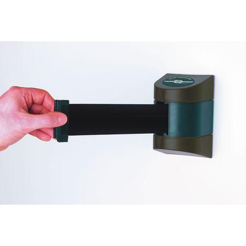 Barrier 7.7M Fully Retractable Wall Unit Black &Black Belt
