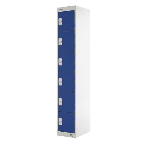 Coloured Door Locker Express Locker 6 Door Blue Door D450mm