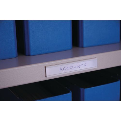 Label Holder Self Adhesive 15X80-Pack Of 100-White Card
