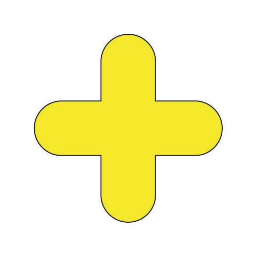 Warehouse Floor Signals Pack Of 10 + Shape 300x300mm Yellow