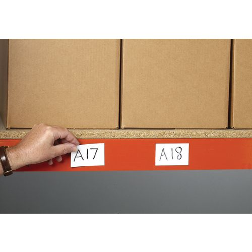 Magnetic Location Markers Pk 100 White Marker 30x100mm