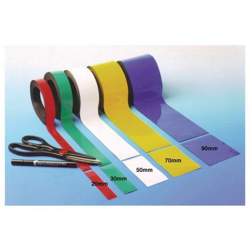 Magnetic Easy-Wipe Strip Width:90mm Length:10M White
