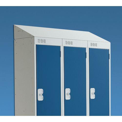 Coloured Door Locker with Sloping Top 397x450 Yellow Door