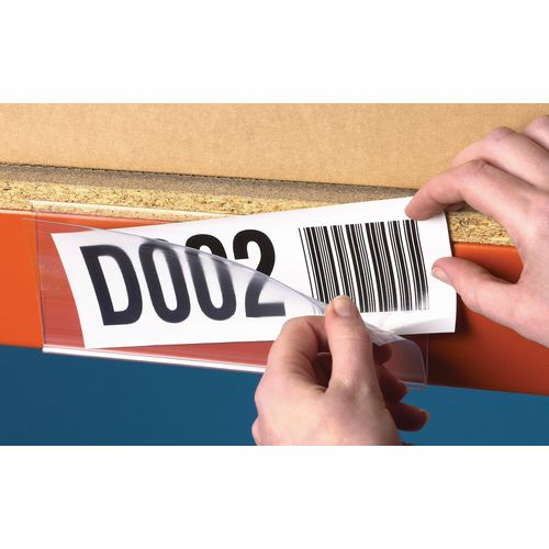 Ticket Holder  Self Adhesive 38x200mm Pack Of 50
