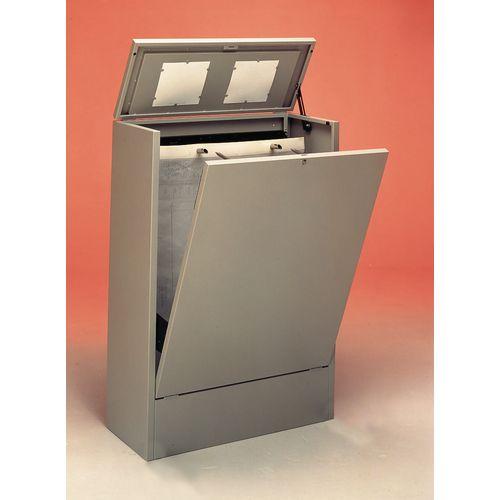Cabinet A1 Vertical Planfile 2 Prong Standard Dark Grey