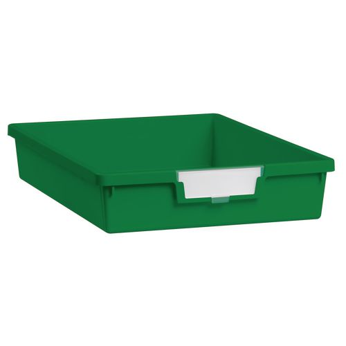Tray  A4 Shallow Green 77x312x425mm-Pack Of 26