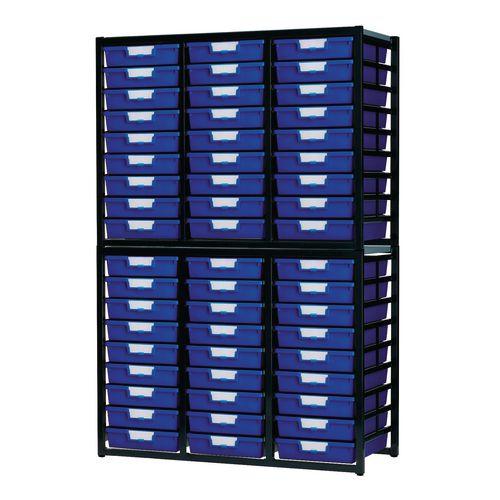 Tray Unit  30 Tray Static A4 Blue 1038x435x1700mm
