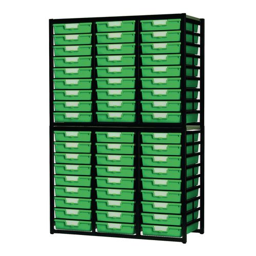 Tray Unit  54 Tray Static A4 Green 1038x435x1700mm