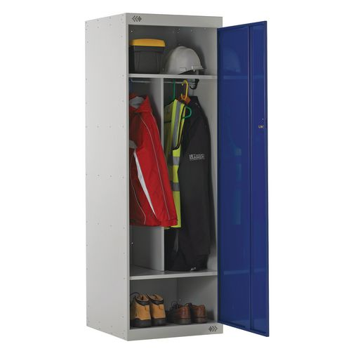 Locker Large Capacity Uniform 4 Internal Compartments Blue
