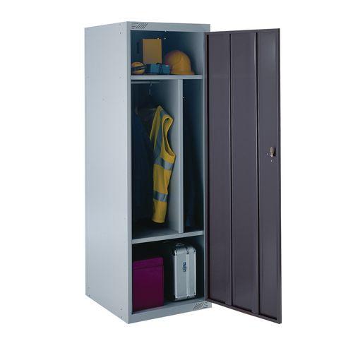 Locker Large Capacity Uniform 4 Internal Compartments Dark Grey