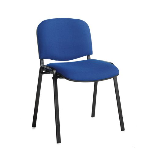 Chair Conference Stackable Blk Frame Blue Pk4