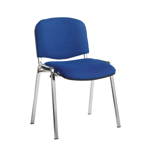 Chair Conference Stackable Chrome Frame Blue Pk4