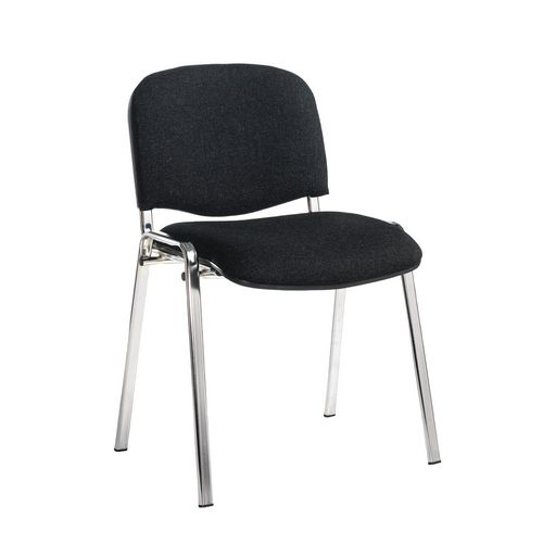 Chair Conference Stackable Chrome Frame Charcoal Pk4