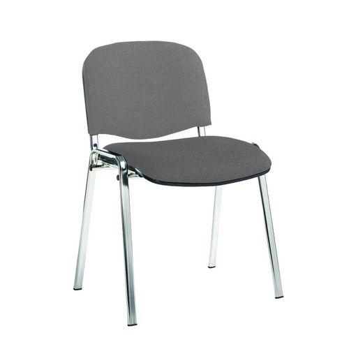 Chair Conference Stackable Chrome Frame Grey Pack Of 4