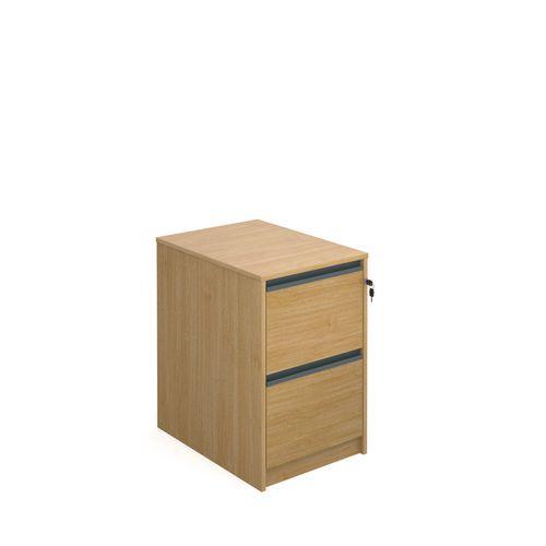 Desking Hxwxd 725X480X650 Oak Filing Cabinet 2 Drawer Oak
