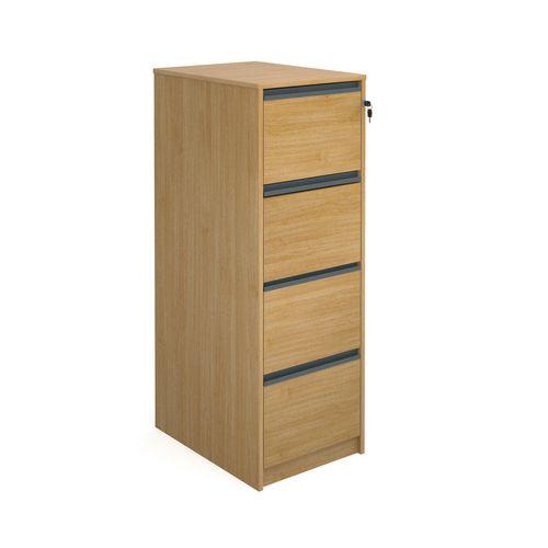 Desking Hxwxd 1350X480X650 Oak Filing Cabinet 4Drawer Oak