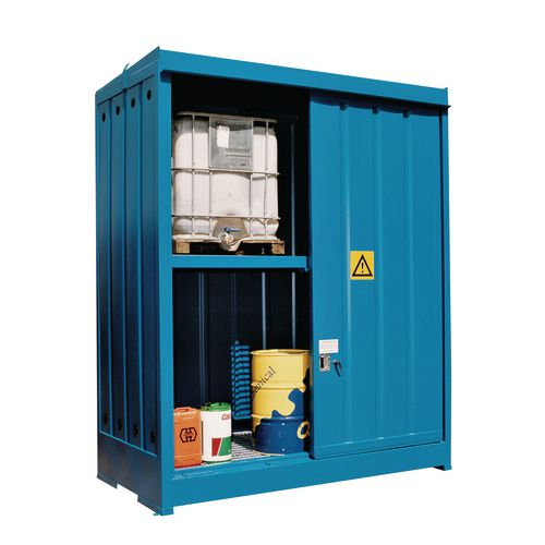 Drum Storage,Full Security Unt Drum Cap:8X205 Litre Blue