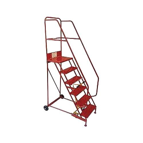 Folding Red Mobile Steps Max Height 2.5M Platform Height 1.5M
