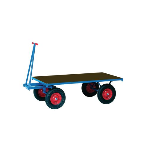 Truck Turntable 2000X1000mm Solid Rubber Tyres Flat Platform 1250Kg Capacity