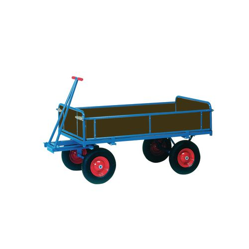 Truck Turntable 1200x800mm Solid Rubber Tyres With Sides 1000Kg Capacity
