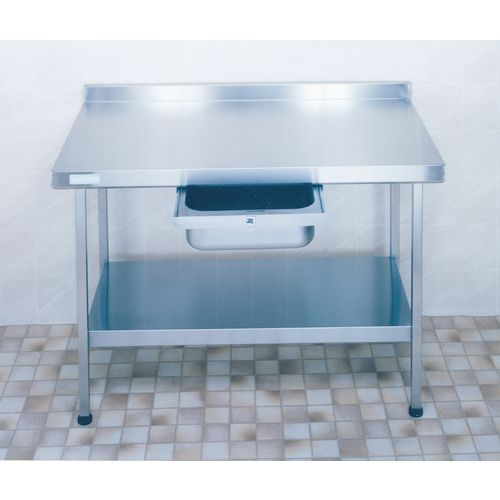 Stainless Steel Preparation Table with Upstand  Wall Table HxWxL 900x650x600mm