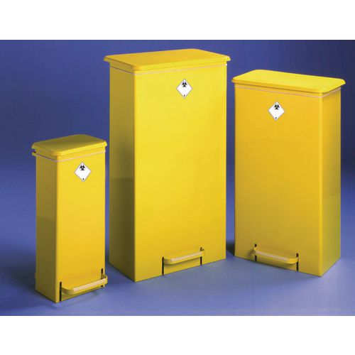 Bin Fire Retardant Mobile Yellow Body &Lid (Fr5005)