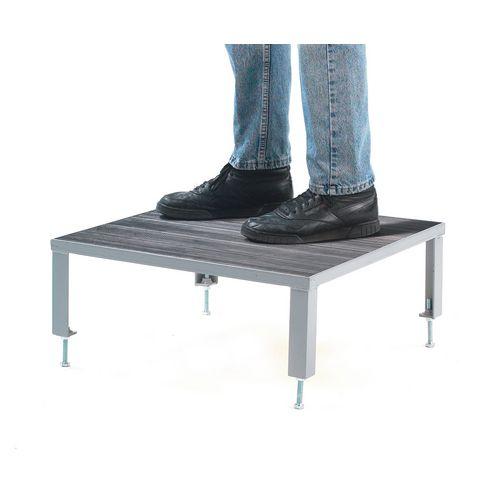 Work Platform Adjustable Rubber 610x1510 Adjustable Height mm: 140-210