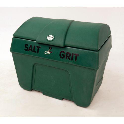 Bin Salt And Grit C/W Lock Without Hopper Dgreen 400L Cap