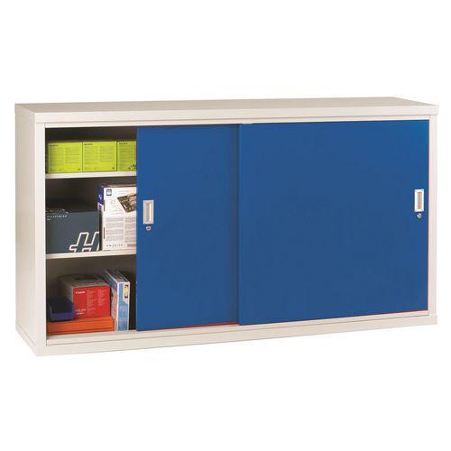 """Light Grey Cupboard Sliding Door 40""""X72""""X18"""" Blue Doors"""