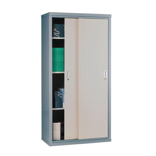 """Light Grey Cupboard Sliding Door 72""""X36""""X18"""" Dark Grey Doors"""
