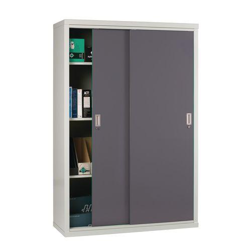 """Light Grey Cupboard Sliding Door 72""""X48""""X18"""" Dark Grey Doors"""