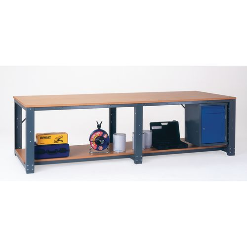 Workbench  3000X1400  Wood V Starter Bench With Lower Shelf