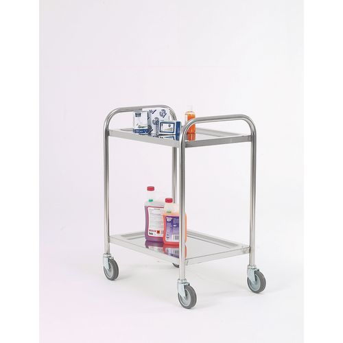Trolley Pressed Shelf Overall LxWxH: 600x425x815mm; Tray Size 57