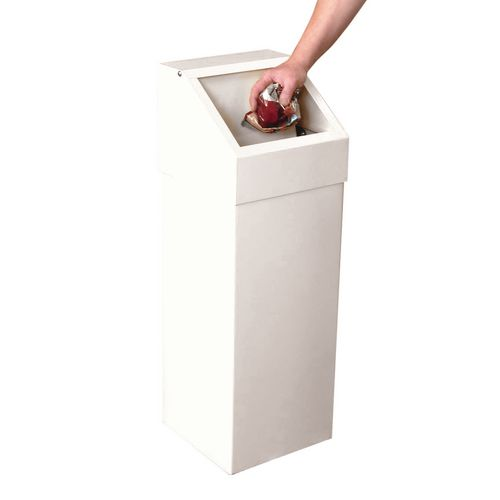 Bin-Sprung Flap-With Liner White-310mm Squarex895mm High